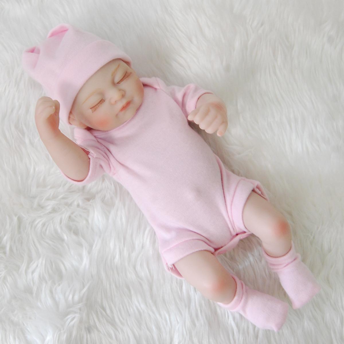Realistica vinile in silicone completo neonato RINATO BABY GIRL DOLL HANDMADE MINI babies