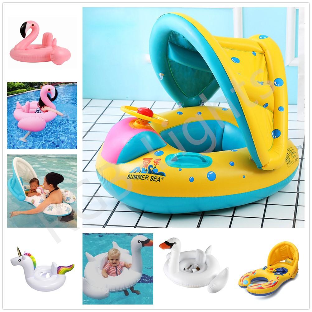 Inflatable Unicorn Swim Ring Infant Flotteur radeau Siège piscine pour enfants bébé