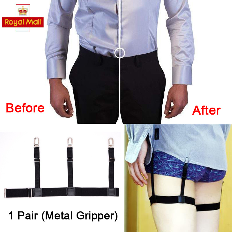 T Shirt Stays Suspenders Garters Non-slip Locking Clamps Elastic Braces Holders