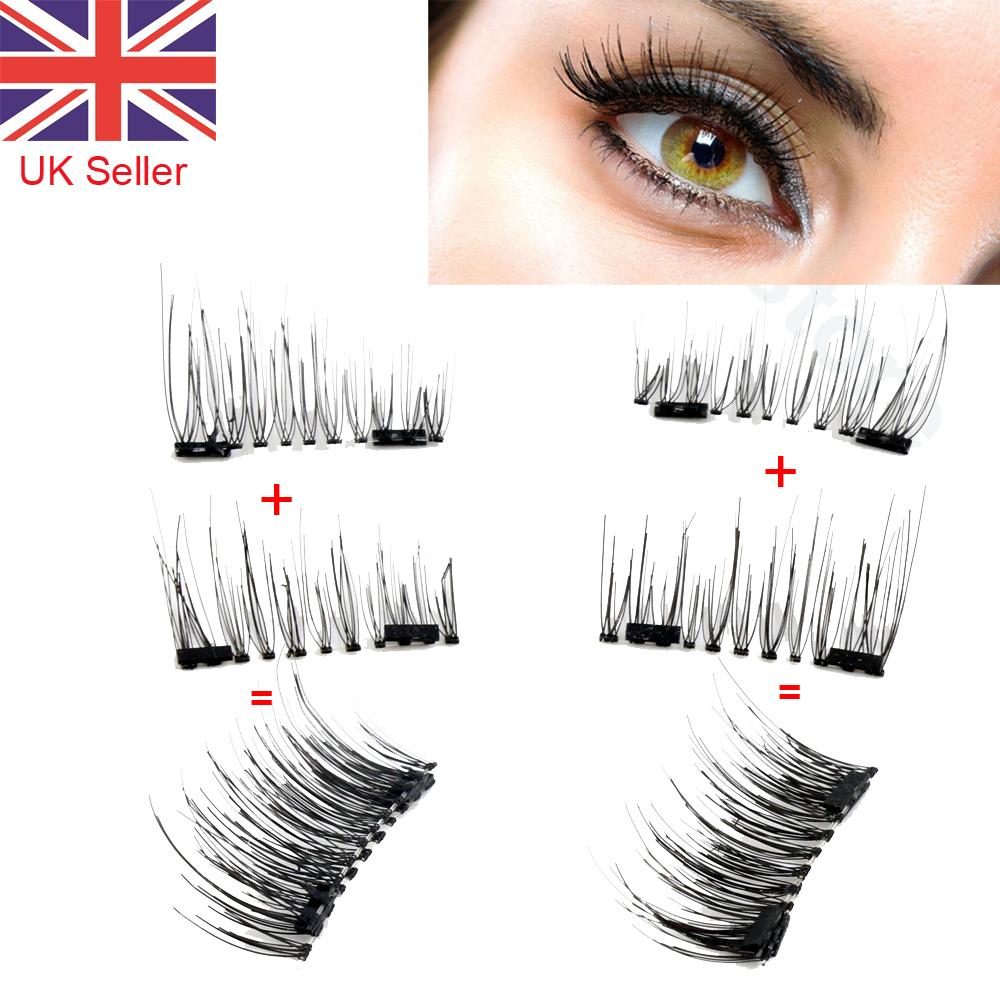 Reusable Double Magnetic Eyelashes Eye Lashes No Glue Easy Using Ebay