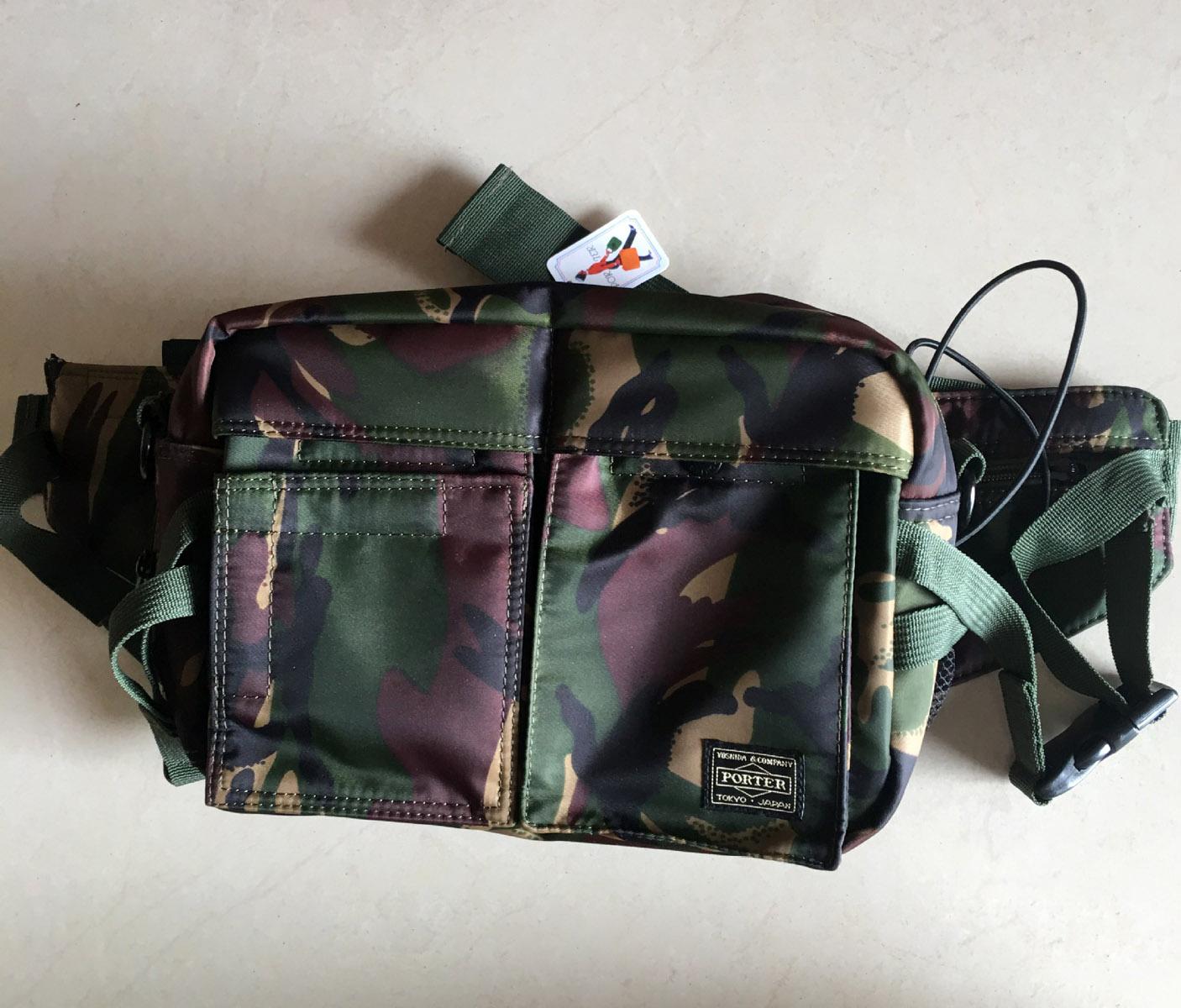 7f474926e3 New Head Porter Jungle Camo Waist Bag Light Portable Crossbody Shoulder Bags