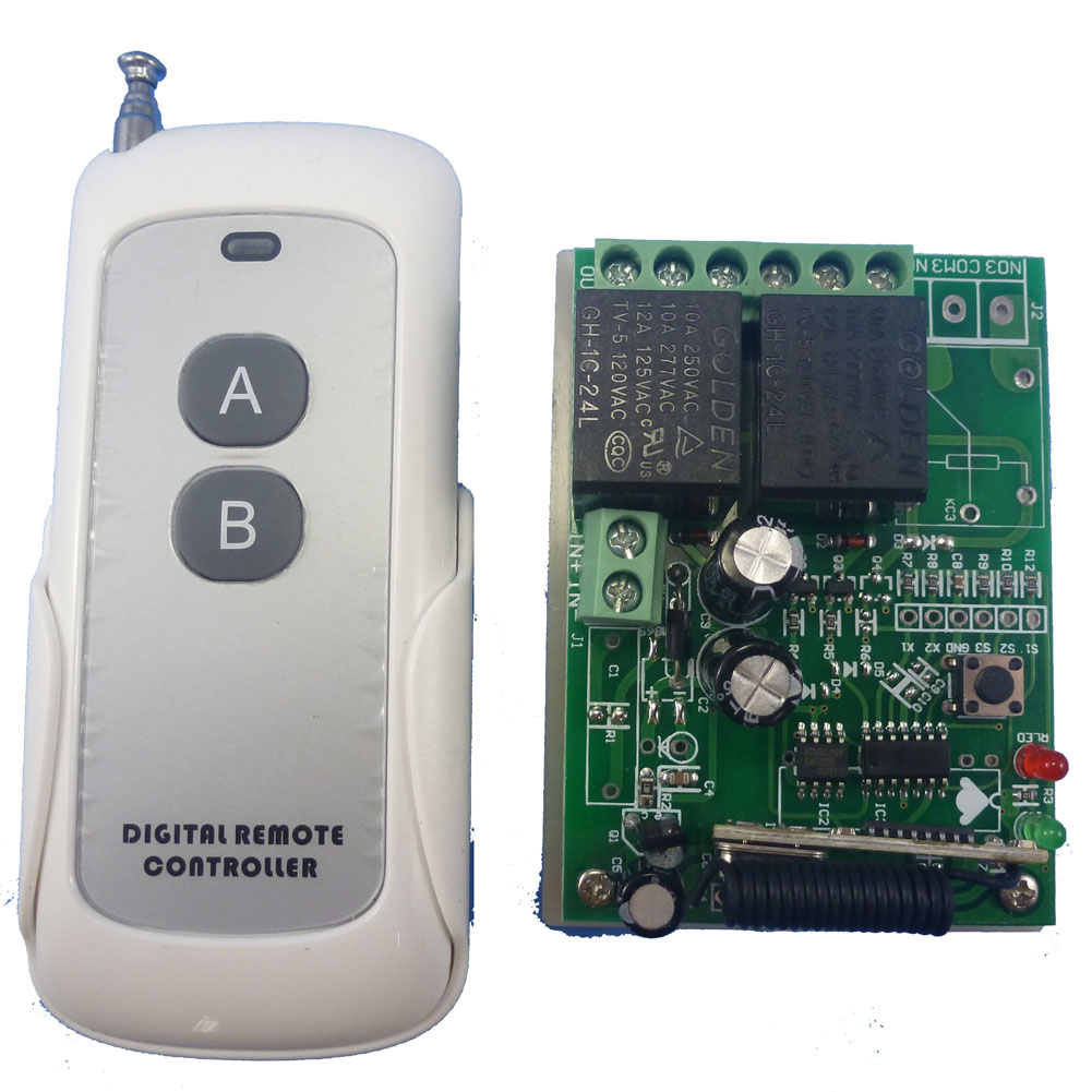 Dc24v 2 Channels Wireless Rf Remote Control Switch Relay Alarm Fob Component Circuit What Do I Need Key