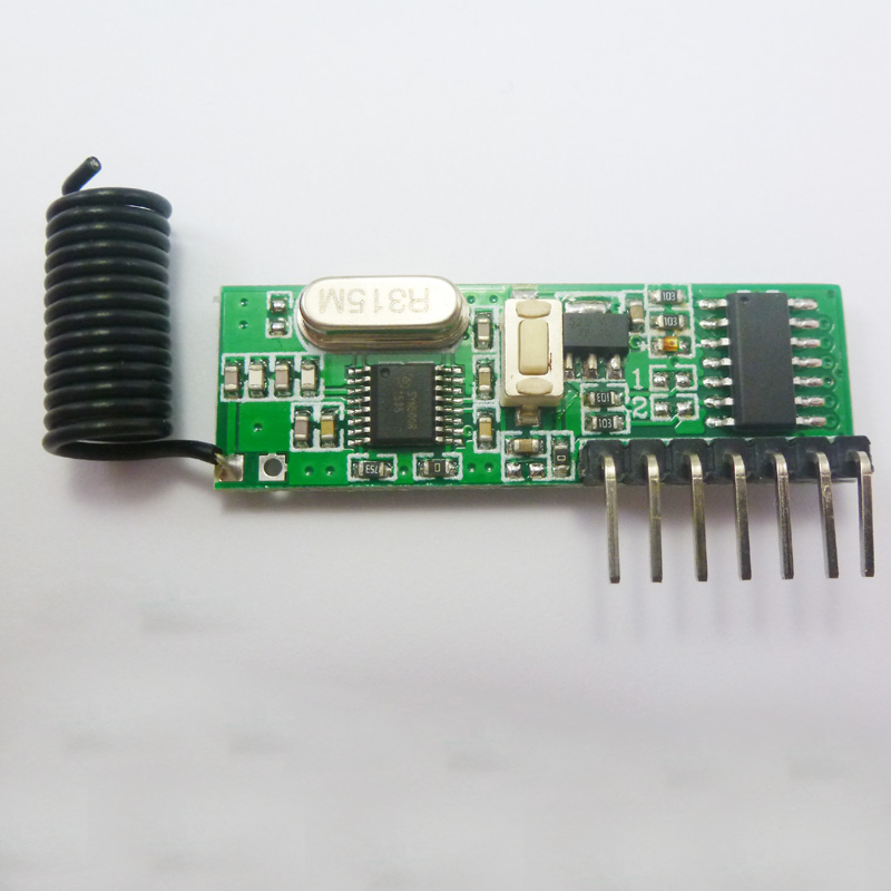 DC 12V 1527 2262 Fixed Code Decoder Receiver ASK RF Wireless Board 315MHz