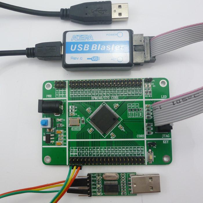 Active Components Altera Max Ii Epm240 Cpld Board & Usb Blaster Fpga Programmer Epm240t100c5n Development Kit For Fast Shipping