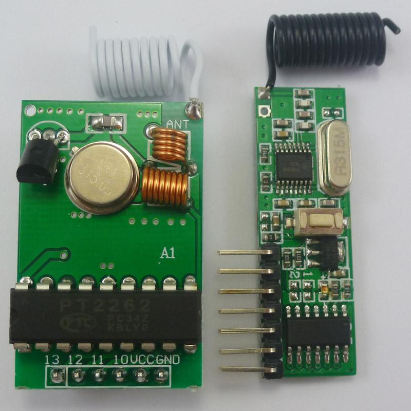 DC12V 315MHz PT2262 Encoder Decoder Modules RF Wireless Link Kit
