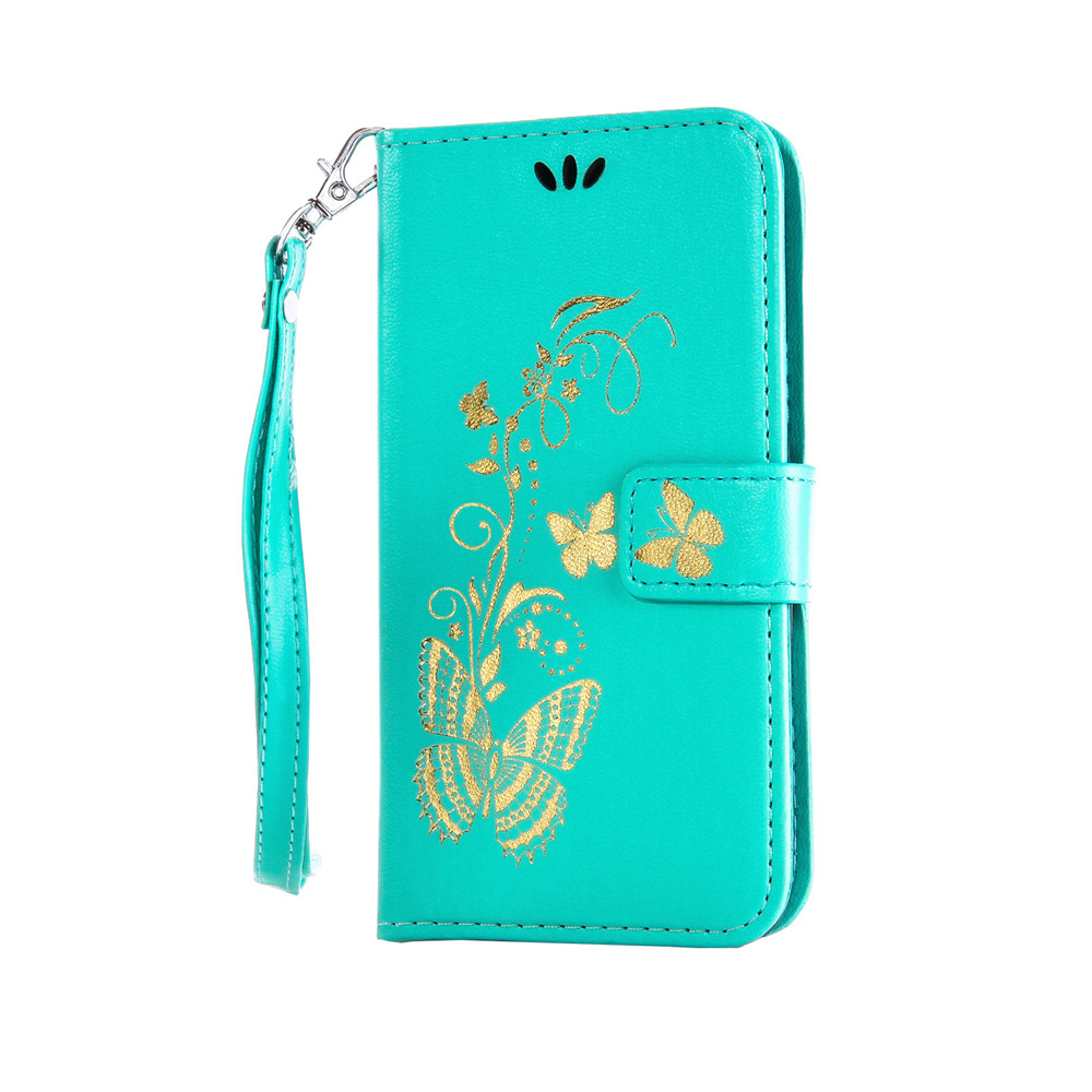 Luxury-Bronzing-Butterfly-Leather-Wallet-Case-Cover-For-Samsung-Note-8-S8-S7Edge