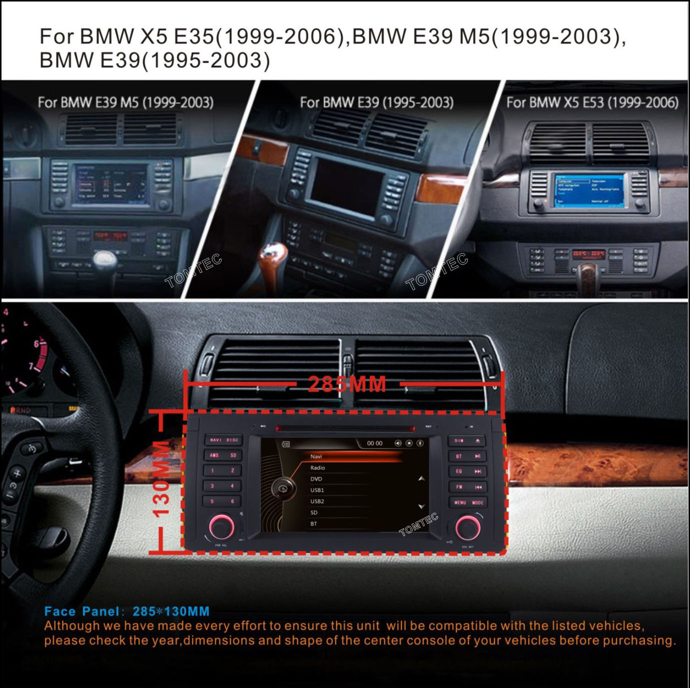 Bmw E39 M5 520 525 7 Car Radio Cd Dvd Player Stereo Bt Gps Sat Nav Wiring Diagram Rds Canbus