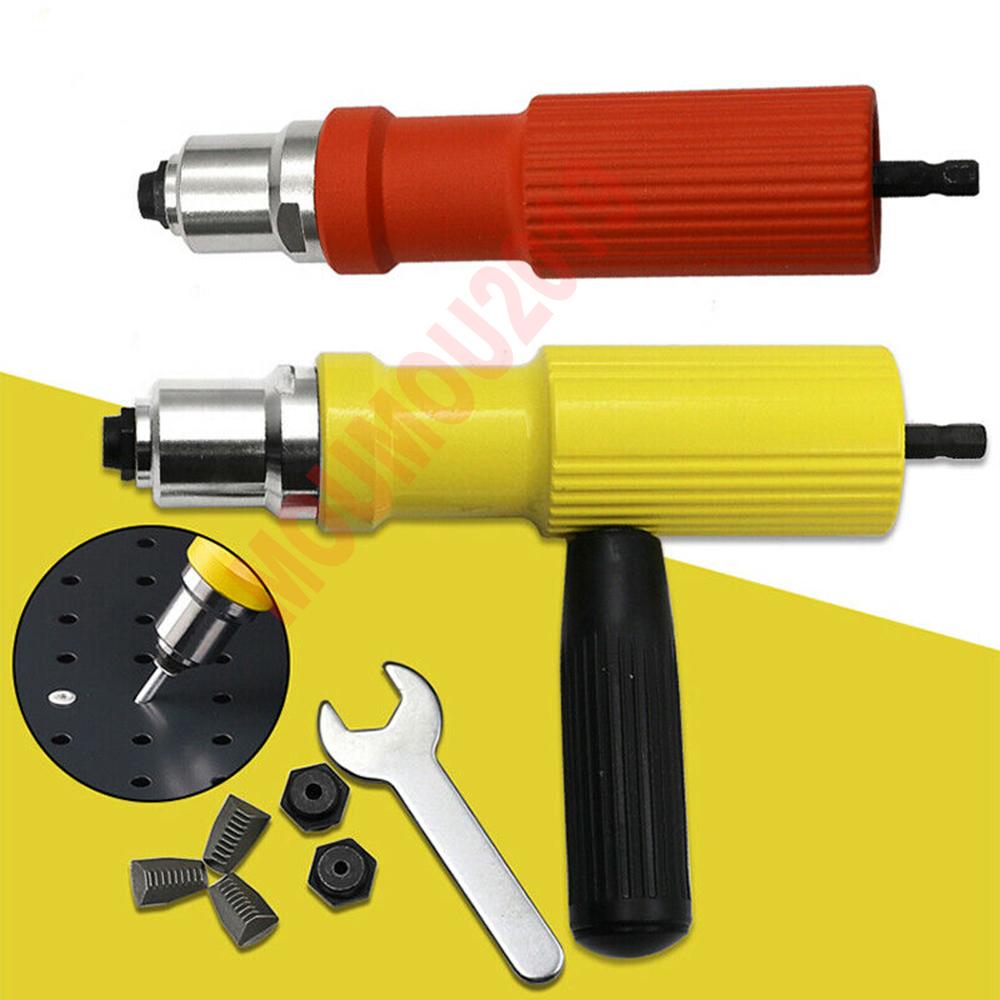 New Electric Rivet Nut Gun Adaptor Insert Cordless Power Drill Tool Kit 2019