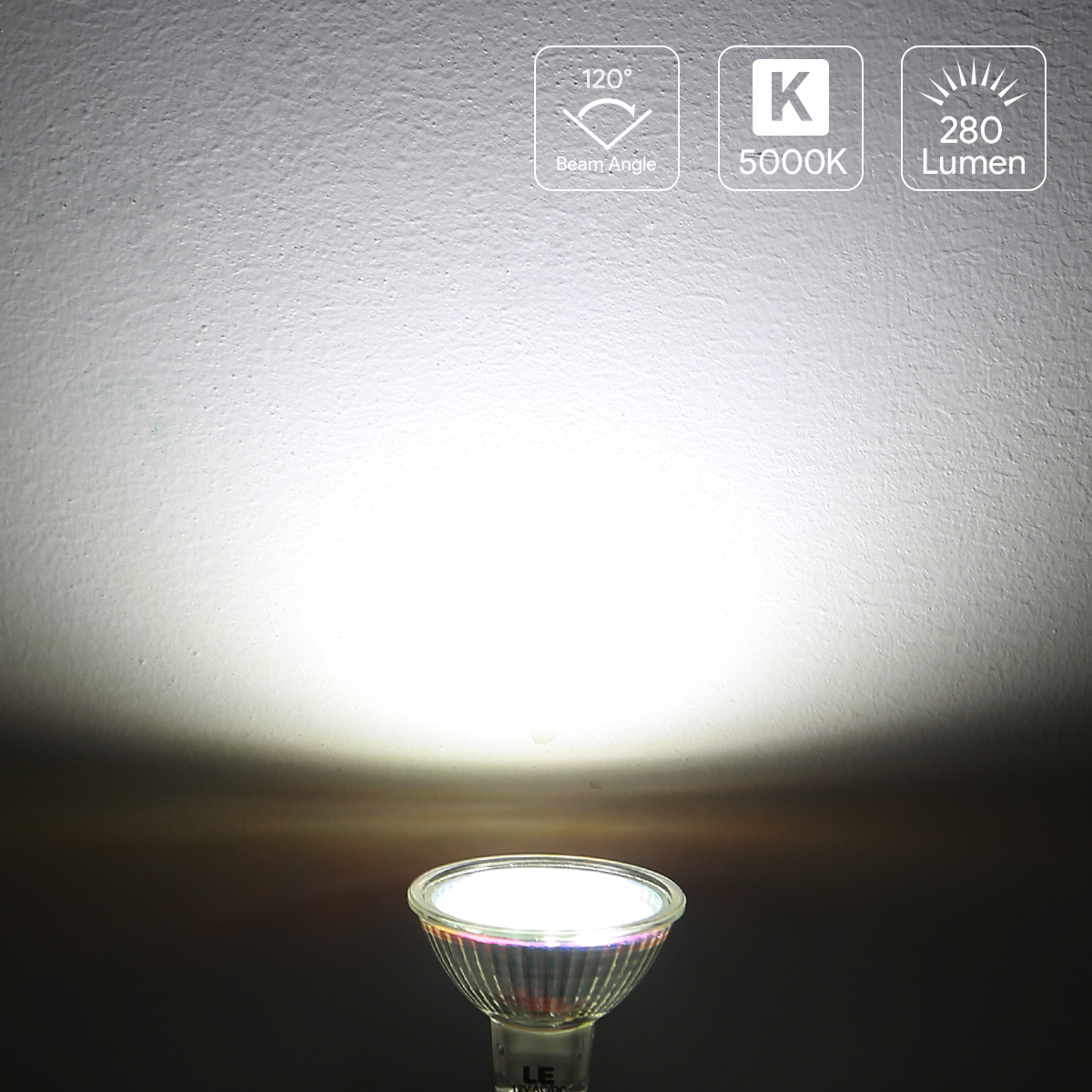le 5er 12v 280lm led birnen 3 5w mr16 gu5 3 led lampe. Black Bedroom Furniture Sets. Home Design Ideas