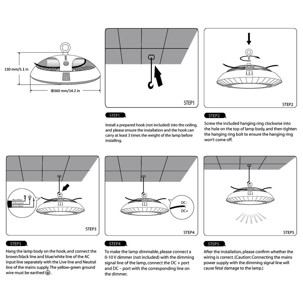 led high bay wiring diagram cool lixada w lm ultra bright ip ... Led High Bay Wiring Diagram on 12v switch diagram, led 110v wiring-diagram, led light bar diagram, led light bulb circuit diagram,