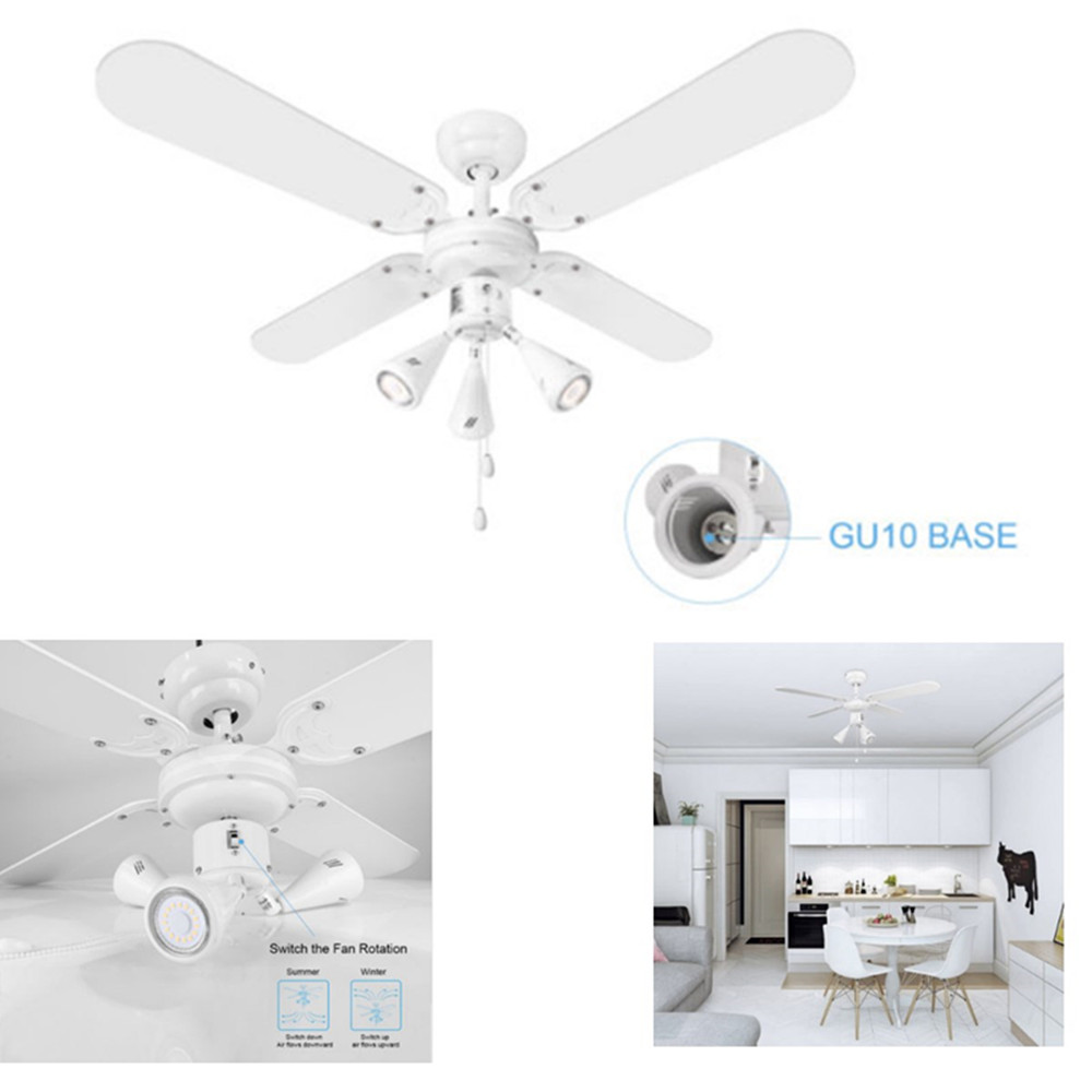 Details About Home Led Ceiling Fan Light 42 Sd Setting Pull Cord 4 Blades Winter Summer