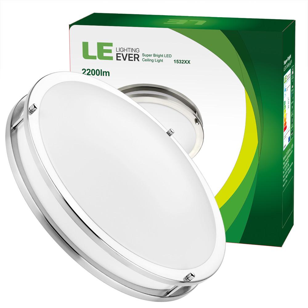 """7000k Bright Light 18w Led Ceiling Light Round Flush Mount: LE 16"""" Inch Round LED Flush Mount Ceiling Light 26W 3000K"""
