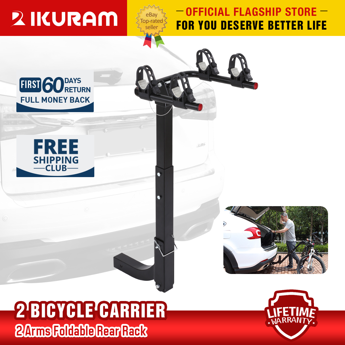 "Car & Truck Racks Sturdy 140Lb 2"" Hitch Receiver Mount Bicycle ..."
