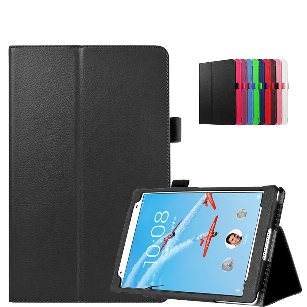 low priced 06327 09de0 Details about Leather Folio Case Stand Cover For Lenovo Tab 4 8 plus  TB-8704 TB-8704x Tablet