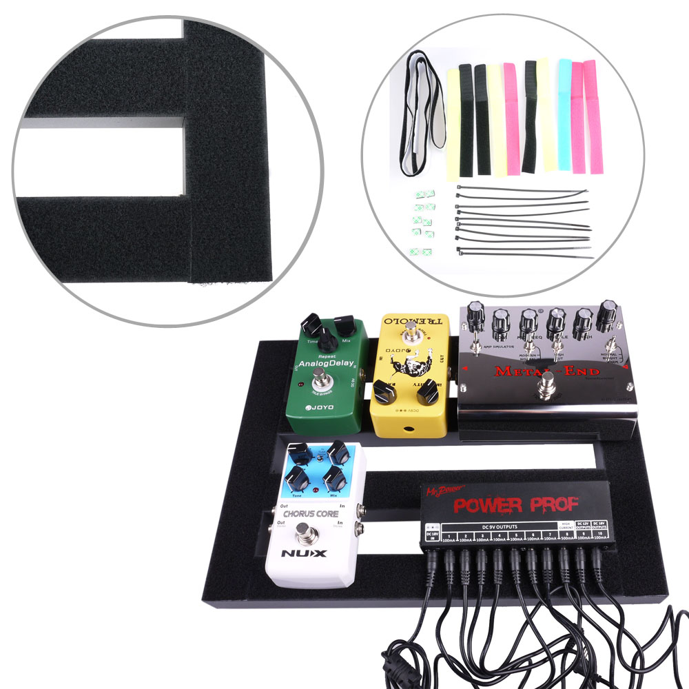 37 27cm medium mr power guitar pedal board pedalboard with loop septup kits ebay. Black Bedroom Furniture Sets. Home Design Ideas