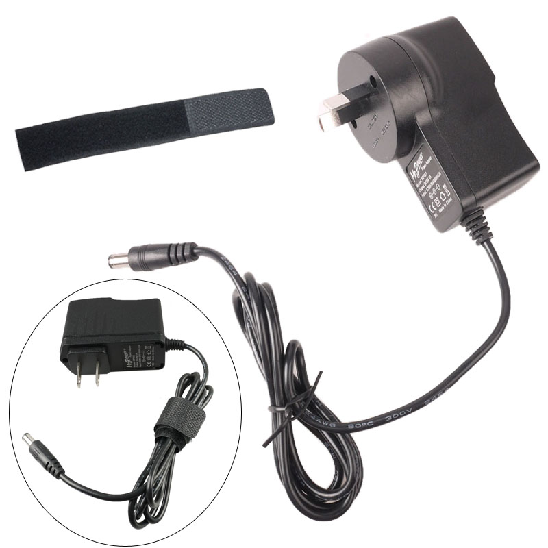 au plug 9v guitar effects pedal power supply adapter charger 5 nylon cable tie ebay. Black Bedroom Furniture Sets. Home Design Ideas
