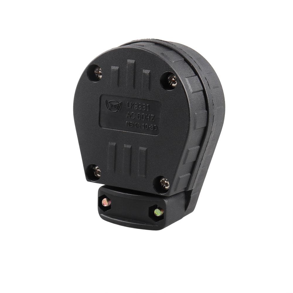 NEMA 10-30P 3-Prong 125//250V Plug for RV /& Generator Locking Dryer Power Socket