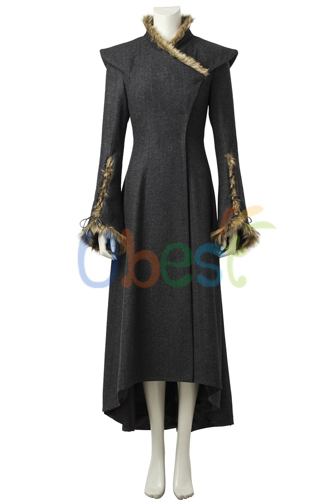 New Game of Thrones 7 Daenerys Targaryen Cosplay Costume with Cloak Custom Made