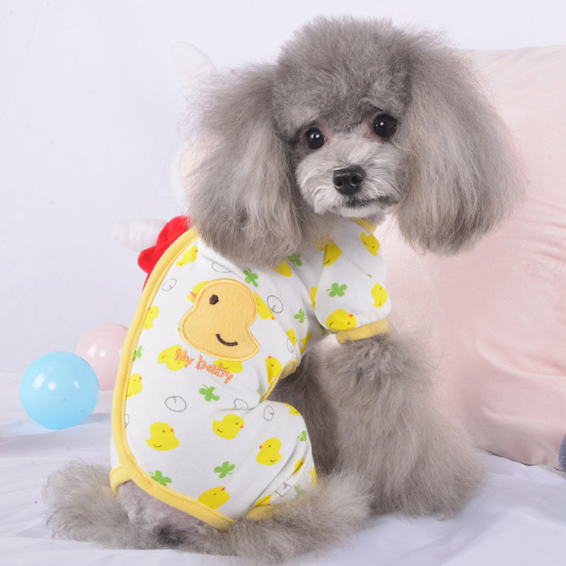 Adorable Small Pet Dog Pajamas Cotton Chihuahua Yorkie Clothes Cat Sleeping  Wear 9d350fdc7