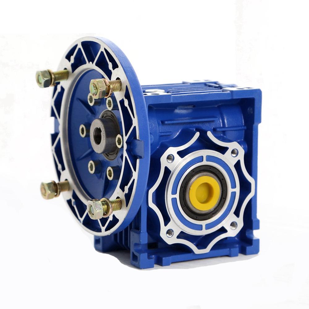 NMRV040-63B14 Worm Gear Box Speed Reducer Aluminum Alloy Ratio 1:7.5-1:100