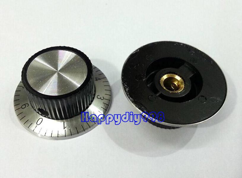 1 PCS Black bakelite volume potentiometer Knob with scale mark 29x19mm