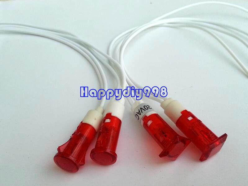 Red LED 10mm Panel Indicator 220V