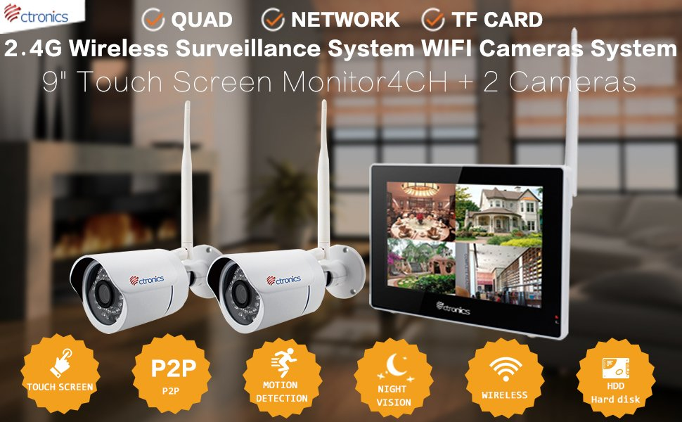 1701210be28 Wireless Camera System Home Security Camera Set w  Real-Time ...