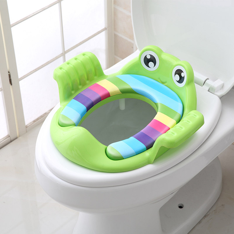 Baby Kids Children Toilet Seat Potty Training Seat Potty Ring Soft Pad Cushion