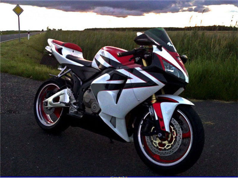 Injection Fairing White Red Fit For Honda Cbr600rr 2005 2006 Abs