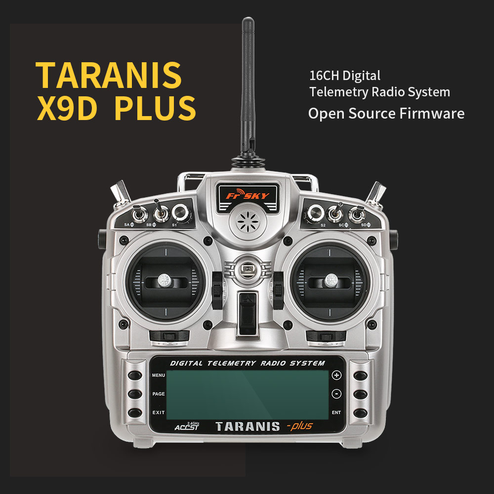 FrSky Taranis X9D Plus 2 4G 16CH Telemetry Radio Remote with