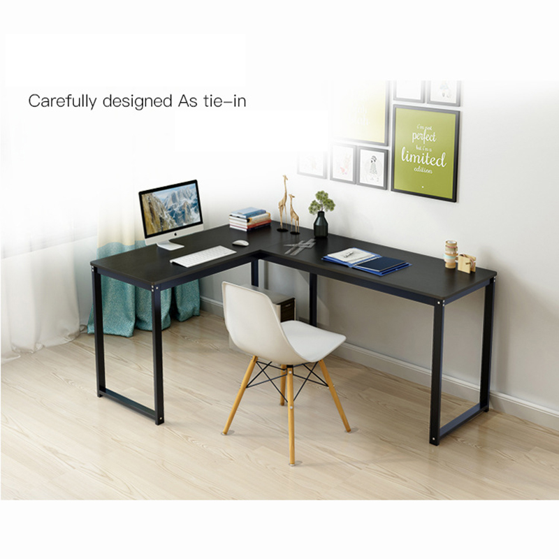 L-Shaped Office Computer Desk Large Corner PC Study Table