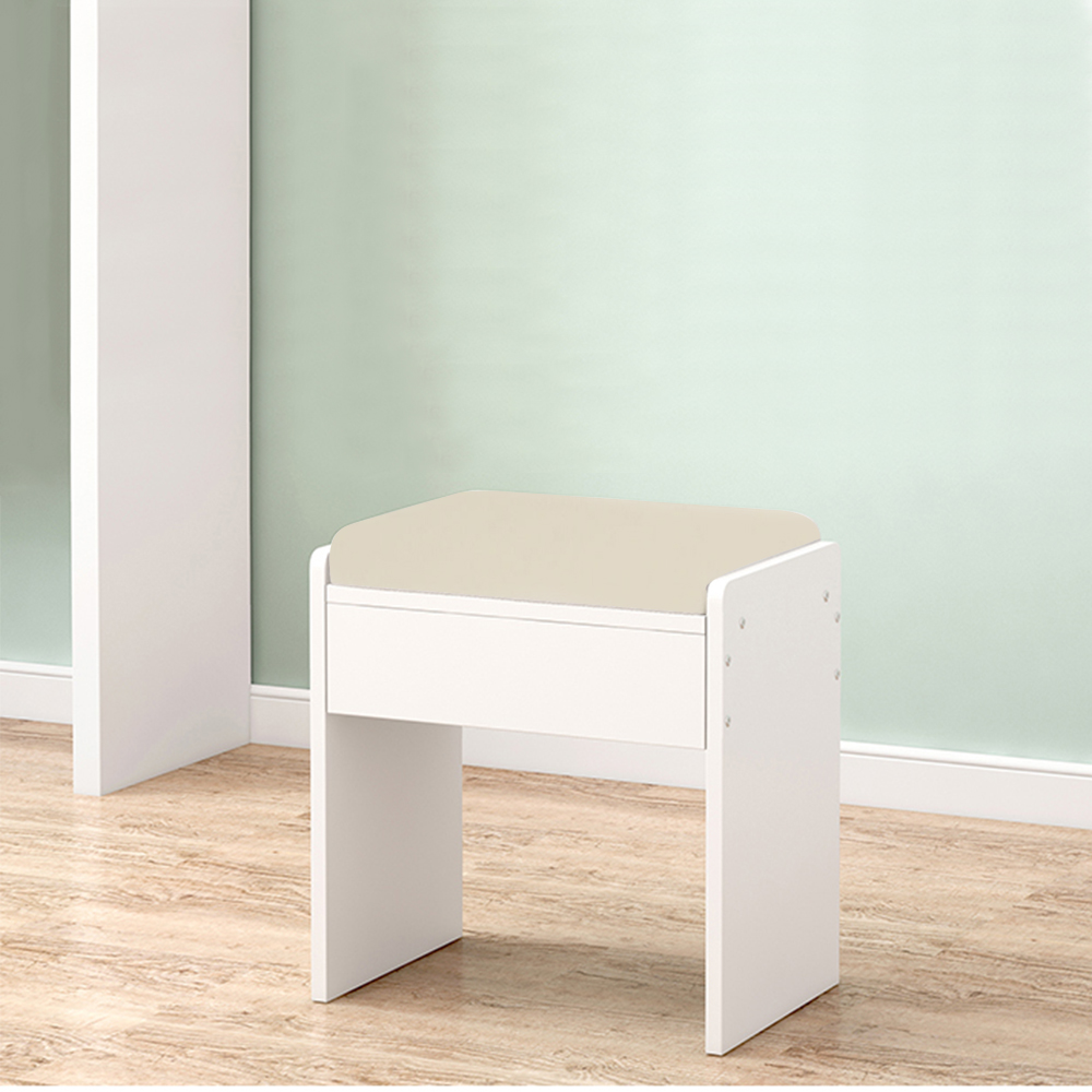 Excellent Details About Dresser Stool Padded Bedroom Vanity Piano Chair Makeup Pu Seat Small Chair White Dailytribune Chair Design For Home Dailytribuneorg