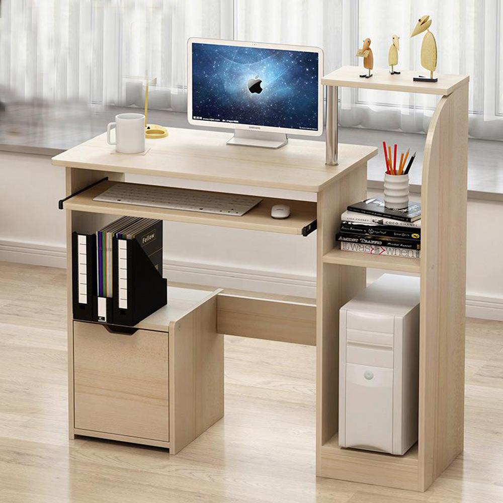 1 Drawer Multifunction Computer Desk With Sliding Keyboard Shelves Cupboards Uk