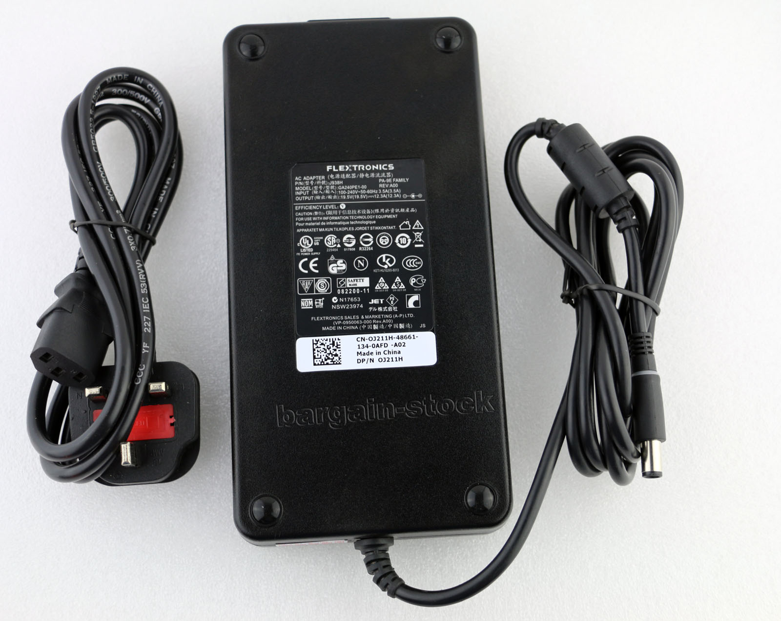 240W Aftermarket Dell Precision M4700 Ac Power Adapter Charger Cord 12.3A 19.5V