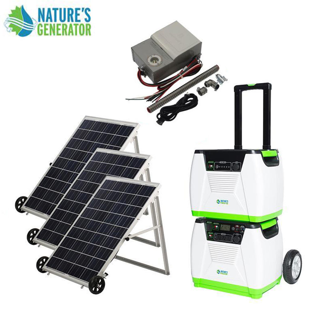 Details about Nature's Generator 1800W Solar & Wind Powered Generator -  PLATINUM-PE System