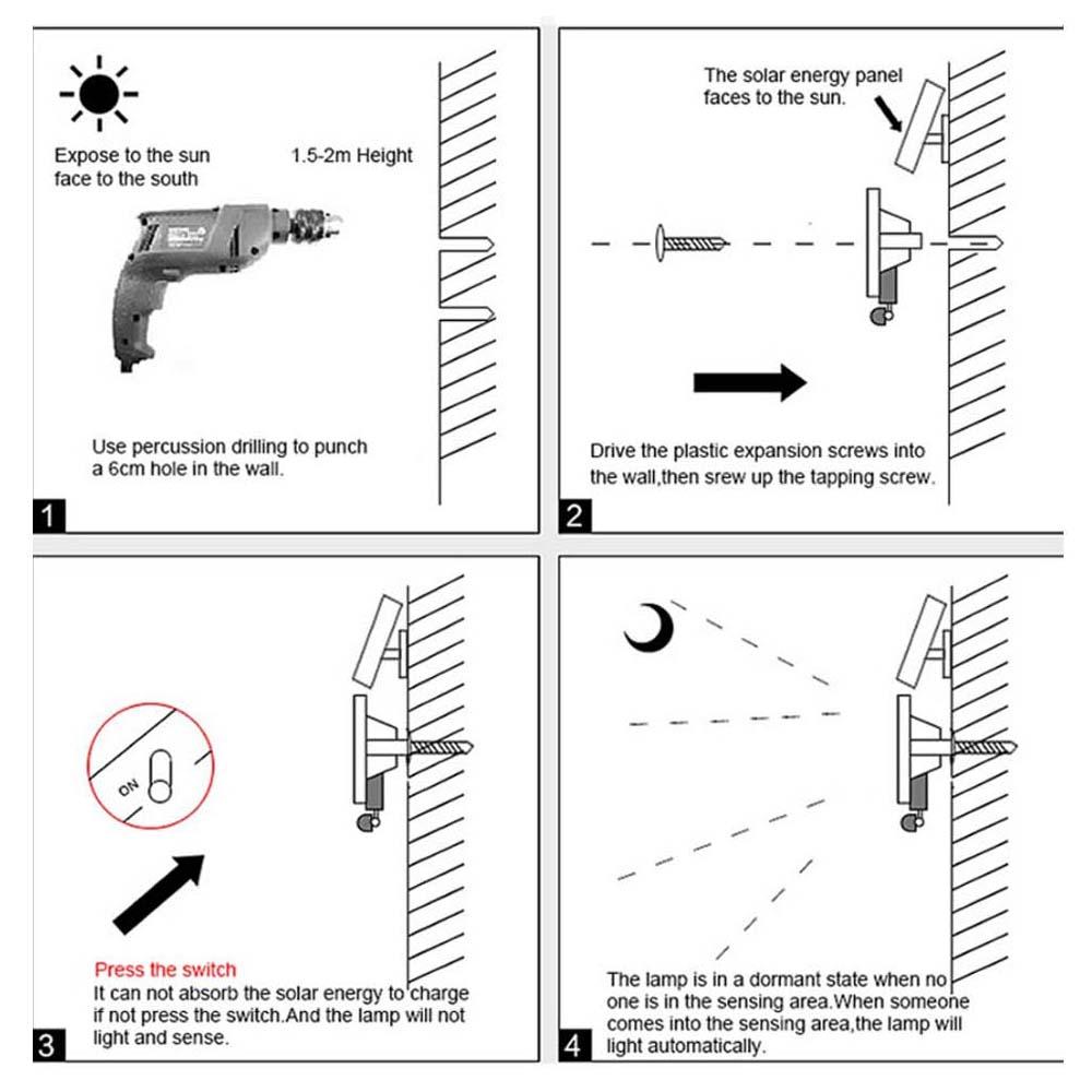Waterproof Led Solar Power Pir Motion Sensor Flood Light Outdoor Rondaful Wiring Diagram Payment Method