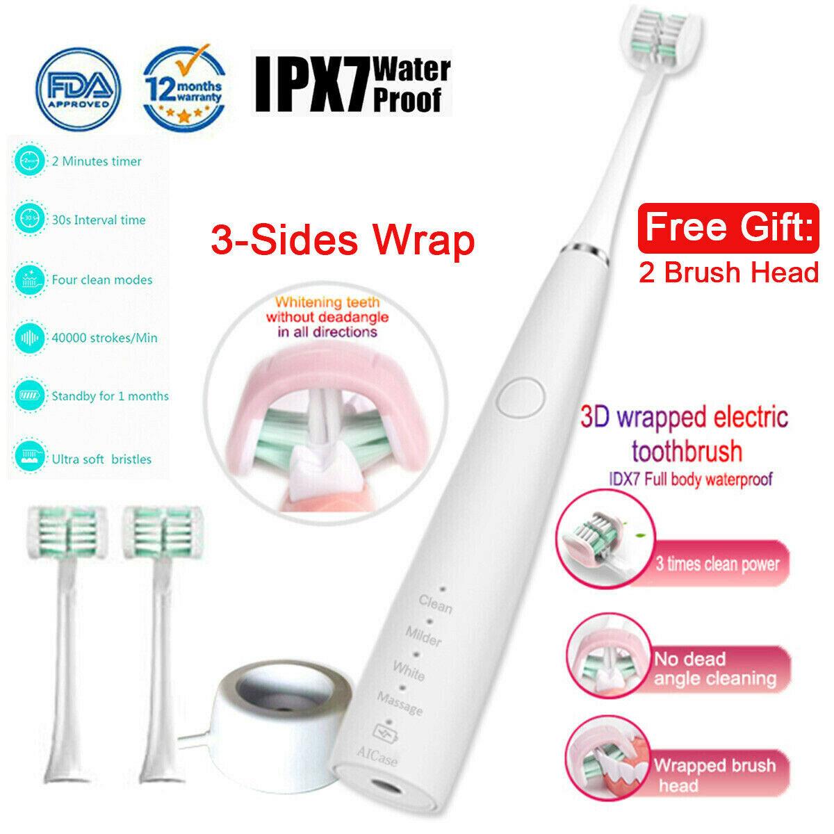 3 Sided Wrap elektrische Zahnbürste vier Sonic Tooth Brush