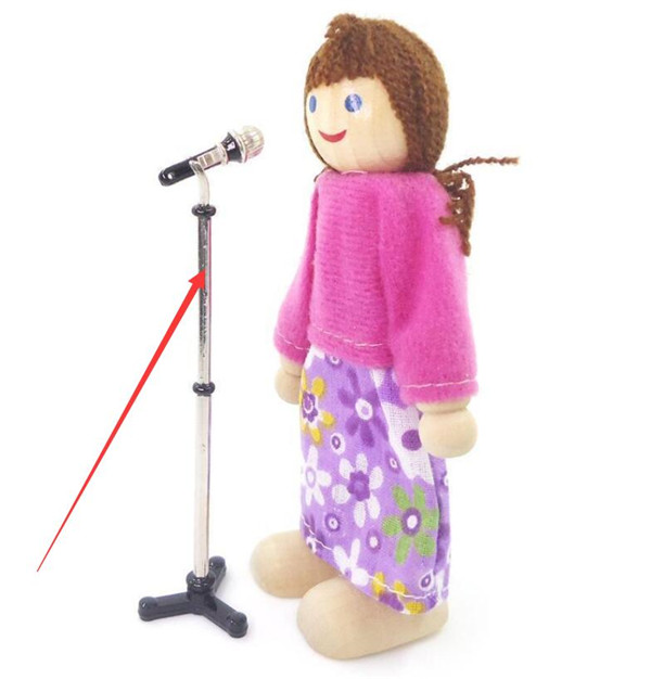 1:12 Dollhouse Miniature Furniture Accessory Microphone Stand Music Room Decor ♫