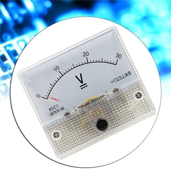 3X DC Ammeter Analog Panel Amp Meter Current Gauge Pointer Type 0 ...