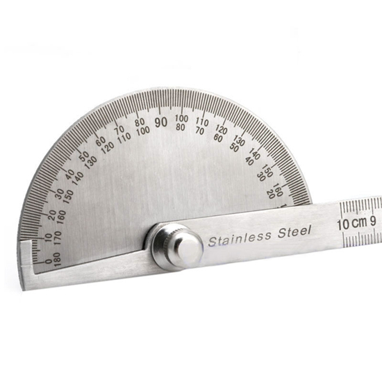 Stainless Steel 180 degree Protractor Angle Finder Arm Rotary Measuring Ruler ♫