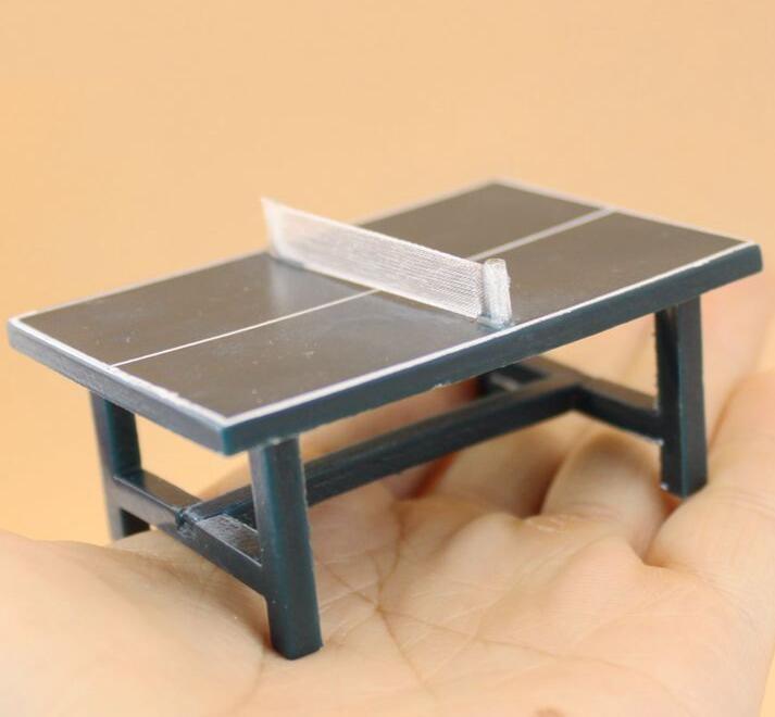 7f9c91ceb 1 12 Dollhouse Miniature Table Tennis Table Ping Pong Equipment Set ...