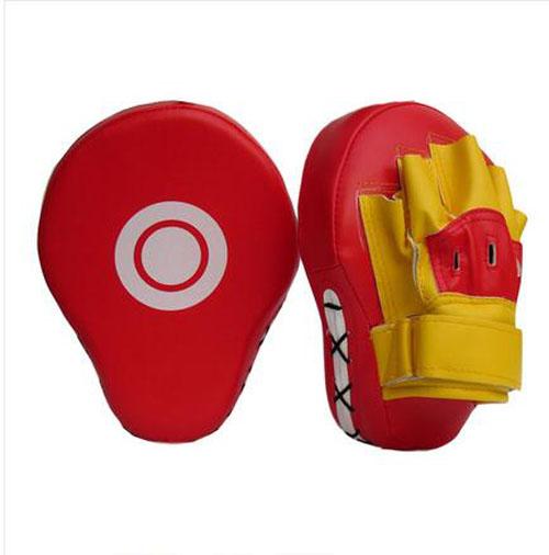 Boxing Focus Target Punch Pad Mitt MMA Karate Combat Thai Kick Training Glove