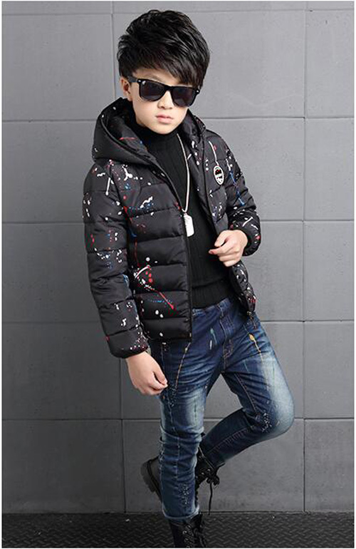 4-14Y-Kids-Boys-Cotton-Quilted-Padded-Jacket-Puffer-Coat-Hooded-Parka-snowsuits thumbnail 19