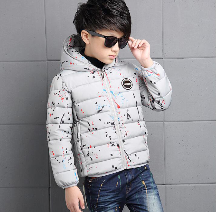 4-14Y-Kids-Boys-Cotton-Quilted-Padded-Jacket-Puffer-Coat-Hooded-Parka-snowsuits thumbnail 15