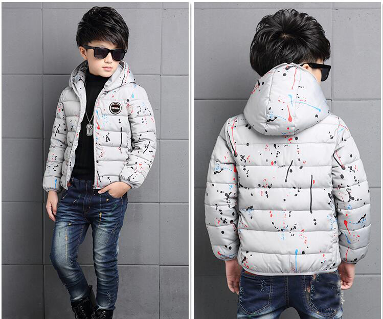 4-14Y-Kids-Boys-Cotton-Quilted-Padded-Jacket-Puffer-Coat-Hooded-Parka-snowsuits thumbnail 14