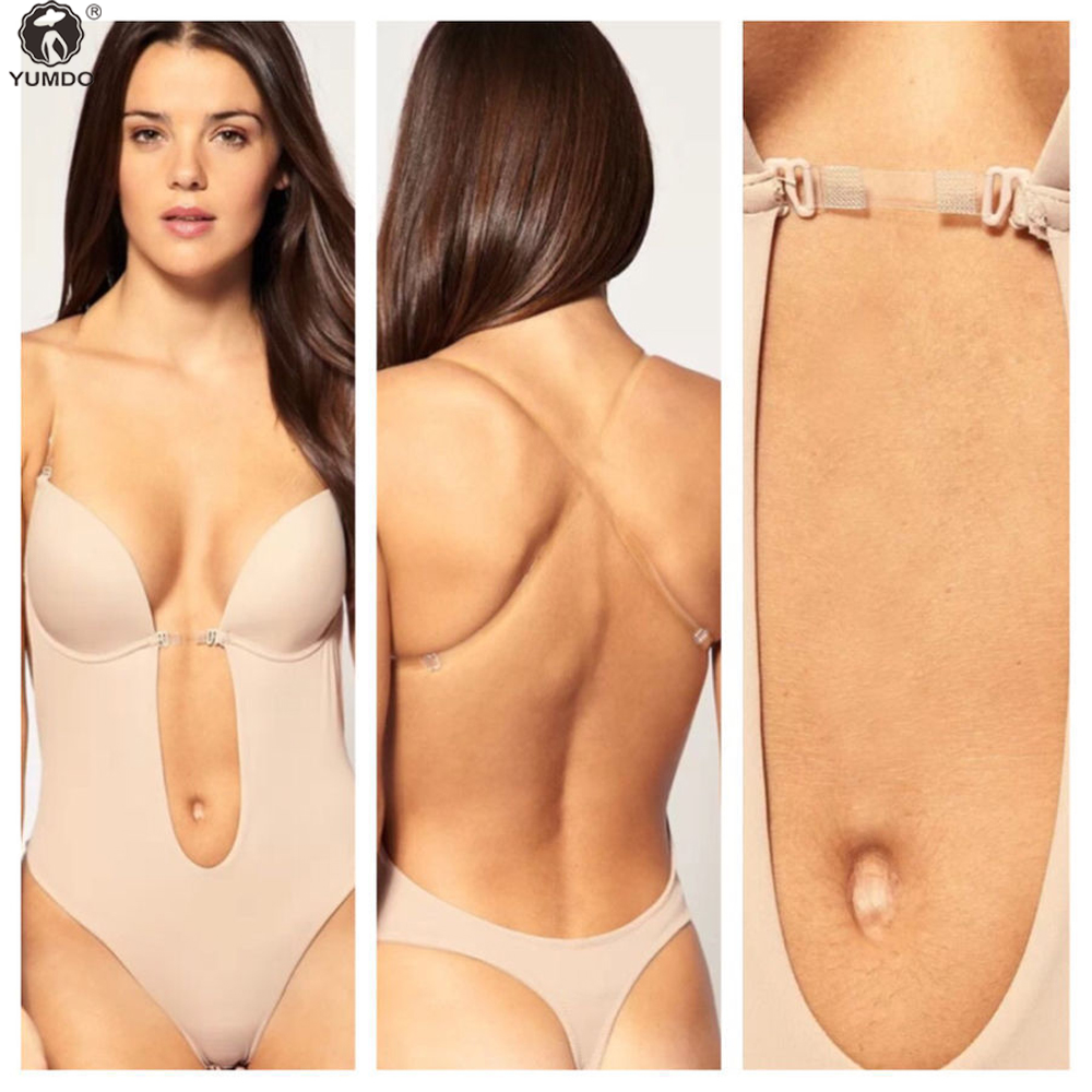 658aa7f85832c Convertible Backless Full Body Shaper PUSH UP Bra Thong bodysuit shapewear