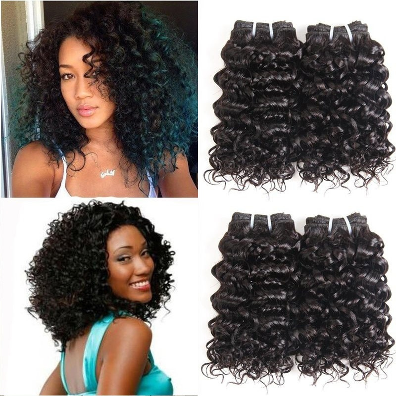 Brazilian Bundles Jerry Curly Wavy Wrap 12 30 Inch Human Hair Weave