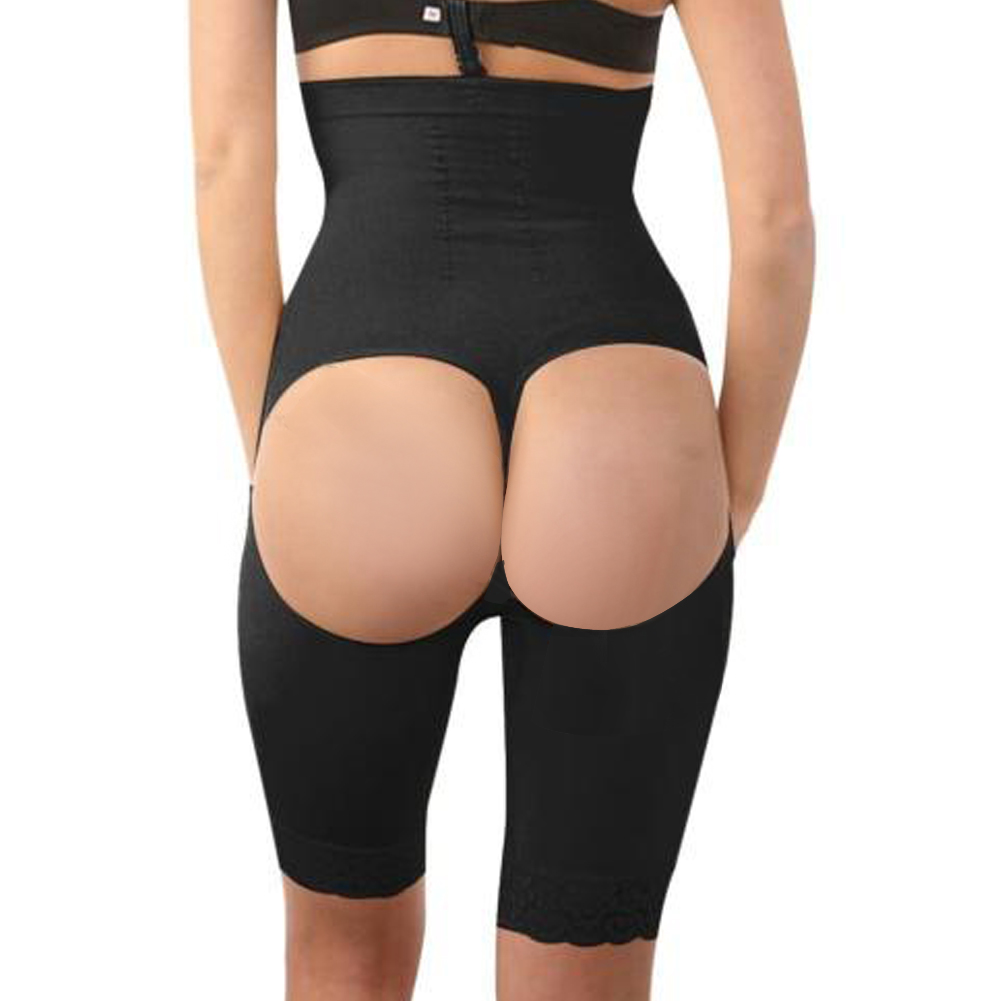a916532d9511c Women Thigh Slimmer Tummy Control Body Shaper High Waist Shapewear Bodysuit  Plus
