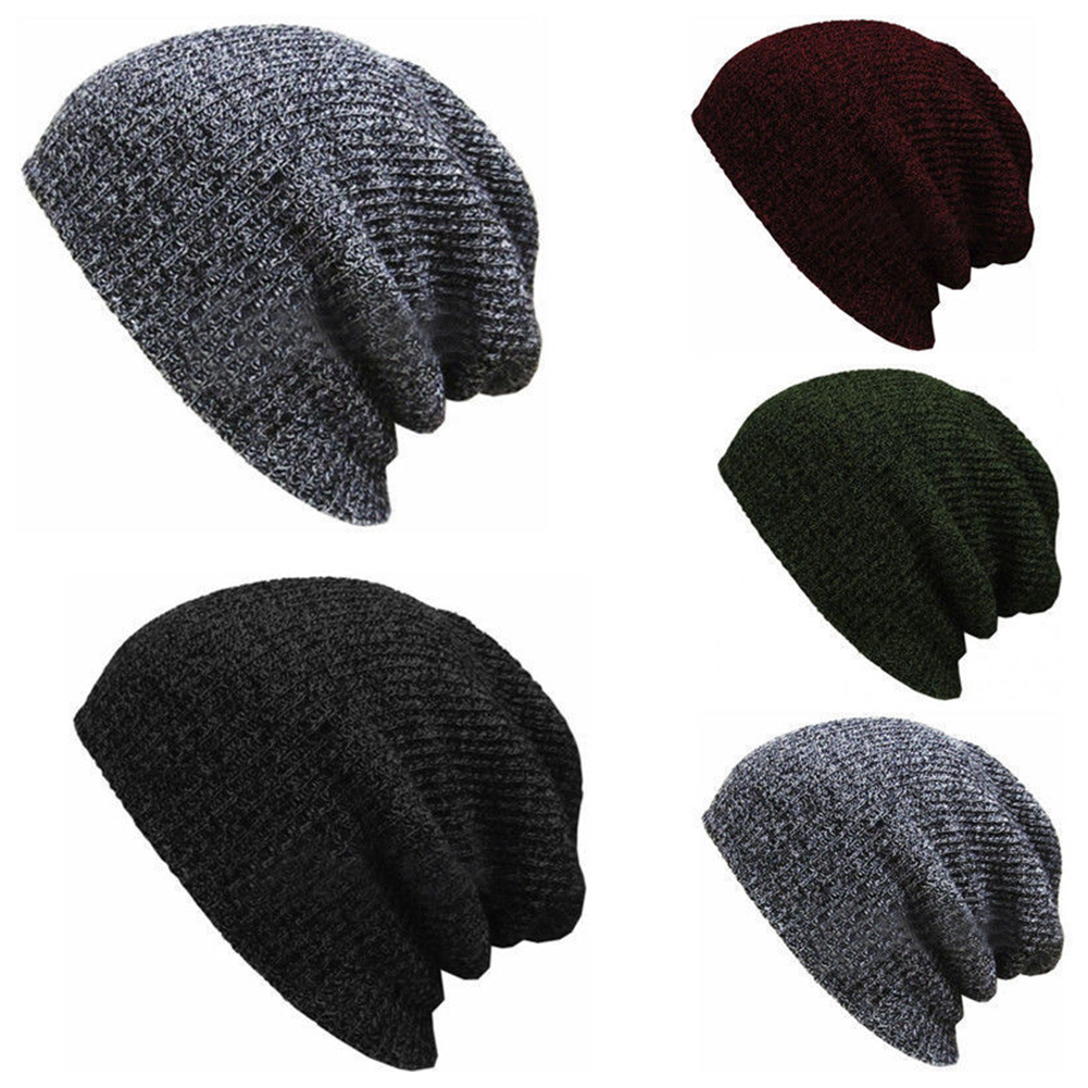 cd6d374ec2f00 Details about Men Women Chic Knitted Cap Knit Baggy Beanie Winter Warm Hat  Hip-Hop Ski Slouchy