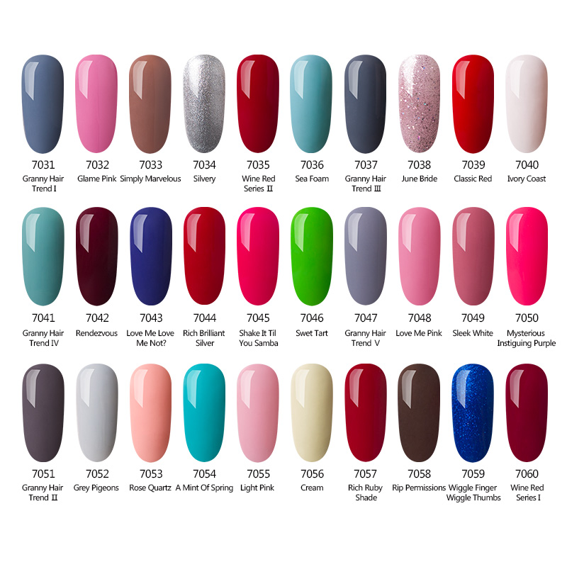 Azure Soak off UV LED Gel Nail Polish 60 Colour Base Top Coat ...